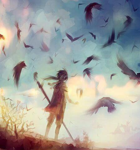 niño-con-pájaros-haciendo-frente-al-miedo